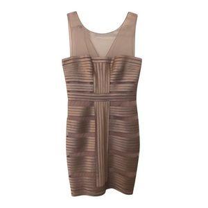 BCBG MaxAzria Brenda Mesh Satin Bandage dress Sz.4